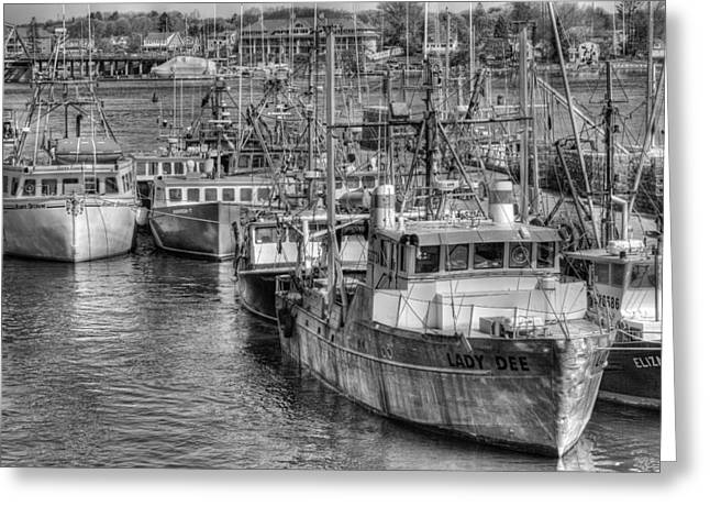Portsmouth Fishing Fleet Greeting Card by Ron St Jean
