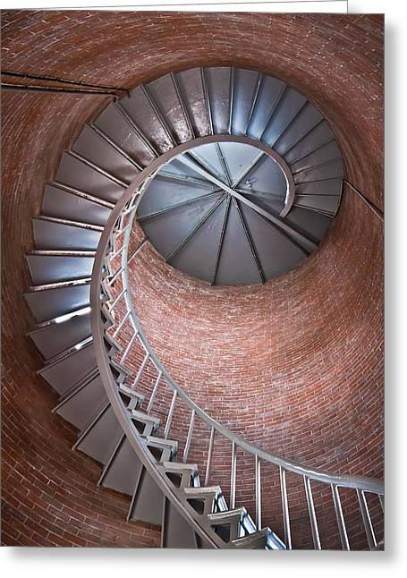 Portsmouth Harbor Lighthouse Stairwell Greeting Card by Robert Clifford