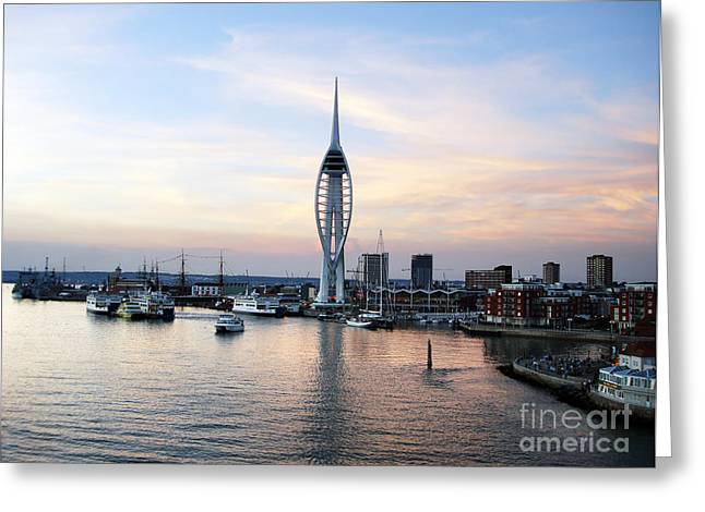 Portsmouth Waterfront Greeting Card by Jane Rix