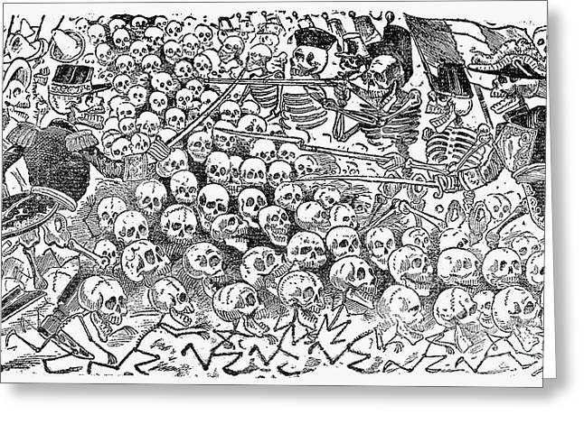 Posada: Skeletons, 1911 Greeting Card by Granger