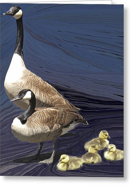 Posed Family Portrait Greeting Card by Ian  MacDonald