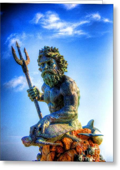 Poseidon Greeting Card by Dan Stone