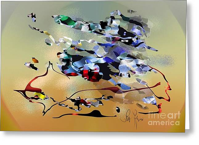 Greeting Card featuring the digital art Possibilities by Leo Symon