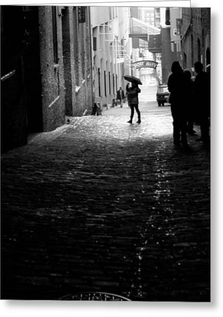 Greeting Card featuring the photograph Post Alley by Mitch Shindelbower