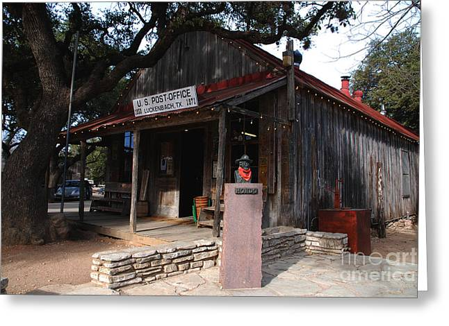 Post Office In Luckenbach Texas Greeting Card by Susanne Van Hulst