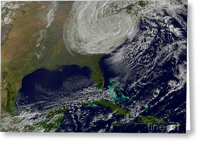 Post Tropical Storm Sandy Rolling Greeting Card
