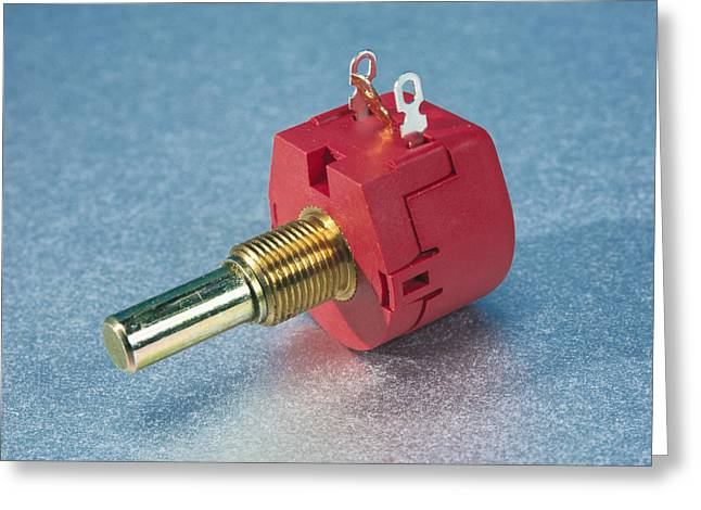 Potentiometer Greeting Card by Andrew Lambert Photography