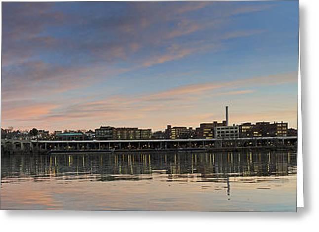 Potomac River Panorama - Washington Dc Greeting Card by Brendan Reals