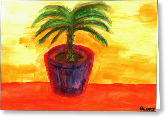 Potted Palm  Greeting Card by Carolyn Olney