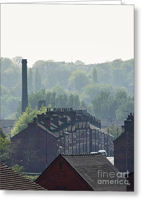 Potteries Urban Landscape Greeting Card by Andrew  Michael