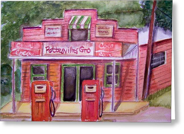 Pottesville Gro. Greeting Card