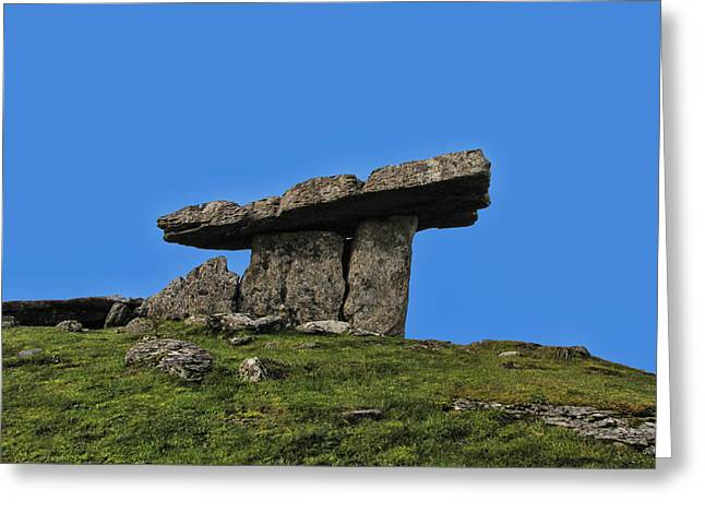 Greeting Card featuring the photograph Poulnabrone Dolmen by David Gleeson