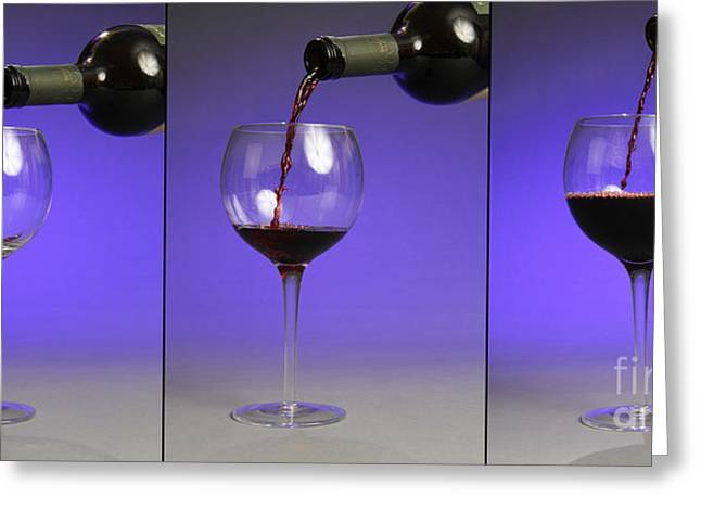Pouring Wine Greeting Card