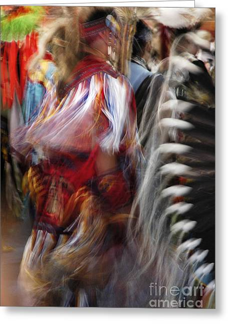 Greeting Card featuring the photograph Pow Wow Dancer by Vivian Christopher