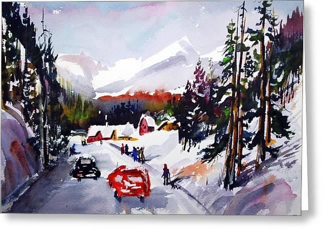 Powder And Sunshine Greeting Card by Wilfred McOstrich
