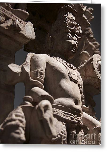 Power In Stone Greeting Card by James Knights