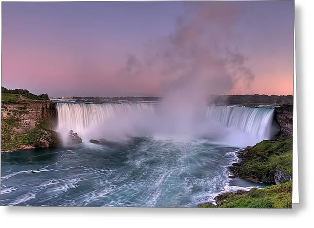 Power Of Horseshoe-niagara Falls Greeting Card