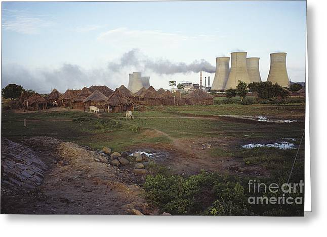 Power Plant, India Greeting Card by Bernard Wolff
