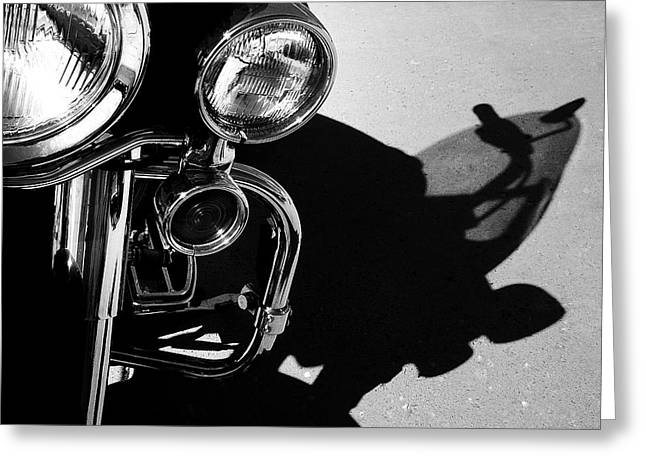 Power Shadow - Harley Davidson Road King Greeting Card by Steven Milner