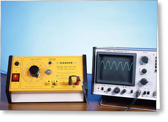 Power Supply Experiment Greeting Card by Andrew Lambert Photography