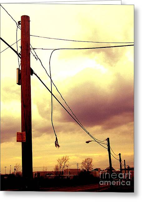 Powerline Greeting Card by Silvie Kendall
