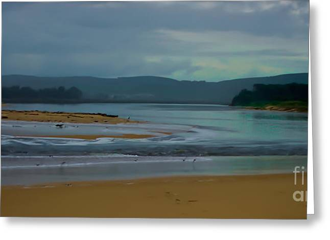 Powlett River Inlet On A Stormy Morning Greeting Card by Blair Stuart