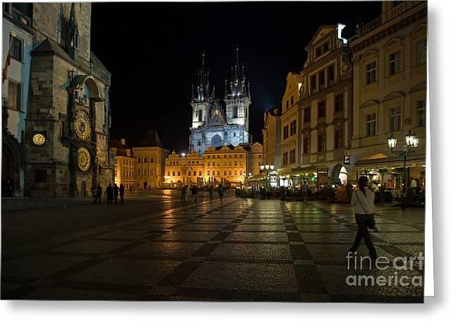 Prague City Square Greeting Card