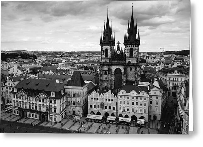 Prague Tyn Church Greeting Card