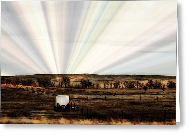 Prairie Greeting Card by Clarice  Lakota