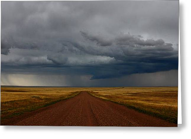 Prairie Storm In Canada Greeting Card by Vivian Christopher