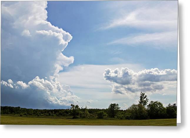 Prairie Storm Greeting Card by Karen Dawson