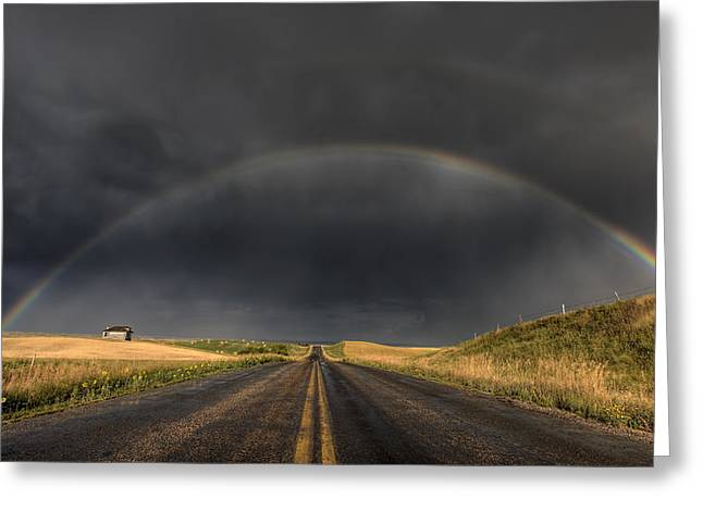 Prairie Storm Rainbow Saskatchewan Greeting Card