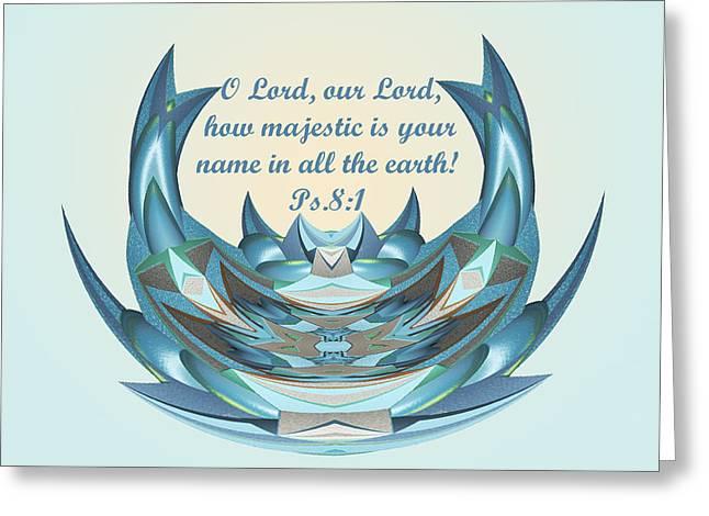 Praising God Ps. 8v1 Greeting Card