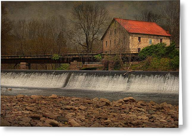 Prallsville Grist Mill And The Spillway Greeting Card