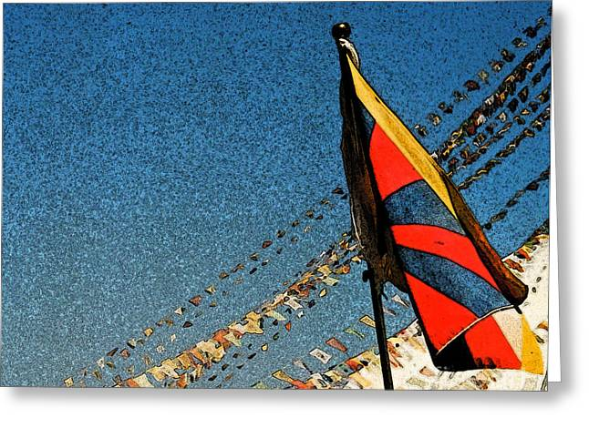 Prayers For Tibet Greeting Card by First Star Art