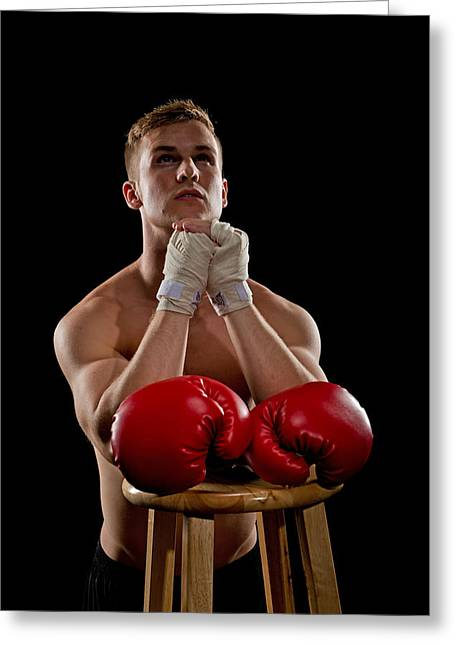 Praying Boxer Greeting Card