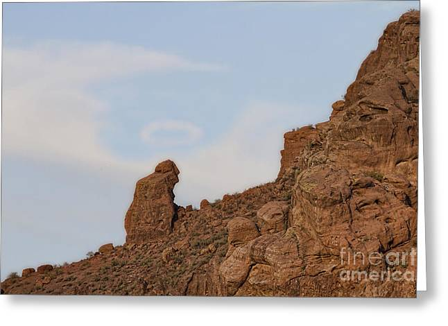 Praying Monk With Halo Camelback Mountain Greeting Card by James BO  Insogna