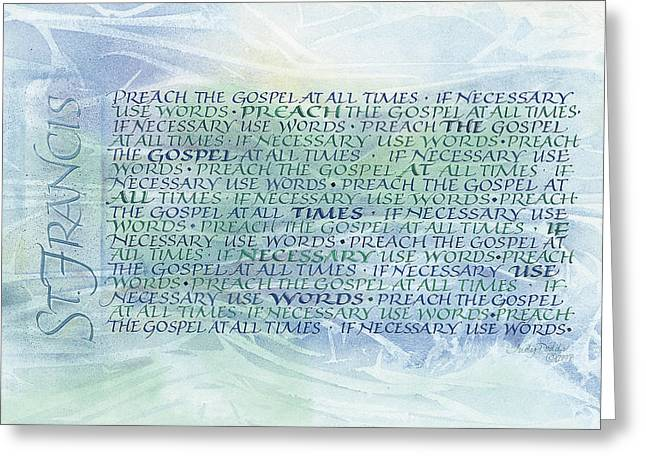 Preach Greeting Card by Judy Dodds