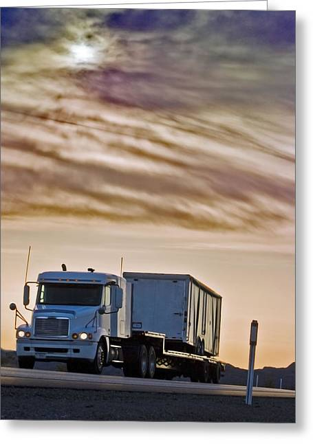 Big Rigs /& Blue Skies Photo Greeting Card Orange Big Rig Original Photography Father/'s Day Blank Note Card