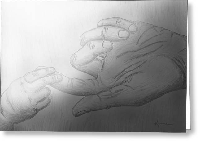 Precious Touch Greeting Card by Kume Bryant