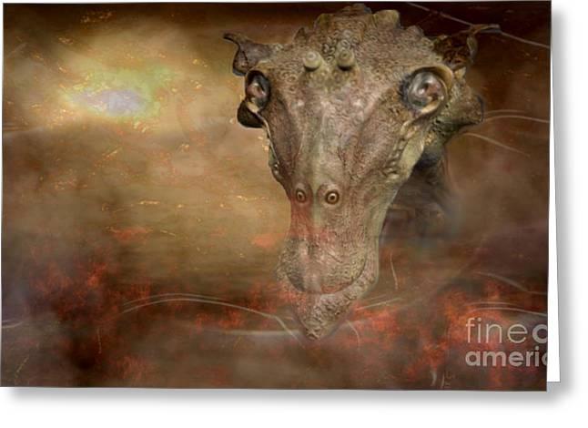 Prehistoric Creature Greeting Card