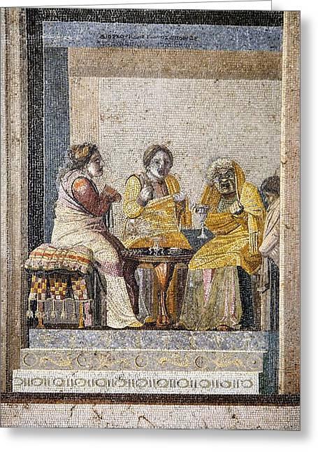 Preparing A Love Potion, Roman Mosaic Greeting Card by Sheila Terry
