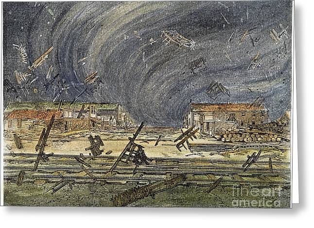 Prescott, Ks: Cyclone, 1887 Greeting Card by Granger