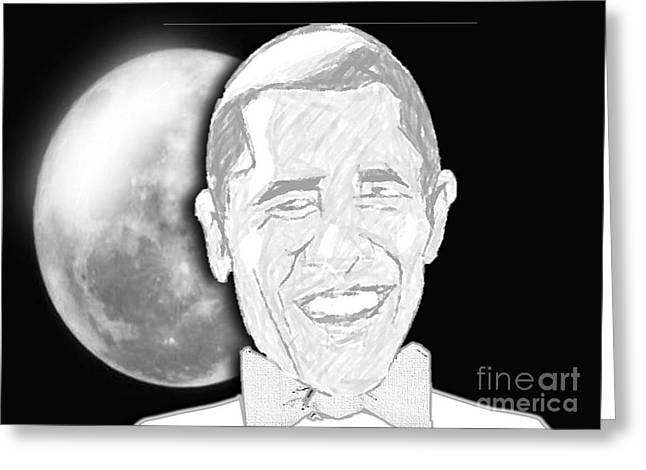 President  Barrack Obama Greeting Card