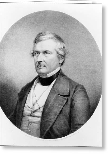 President Millard Fillmore - C 1850 Greeting Card by International  Images