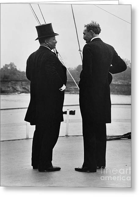 President Roosevelt And Gifford Pinchot Greeting Card by Photo Researchers