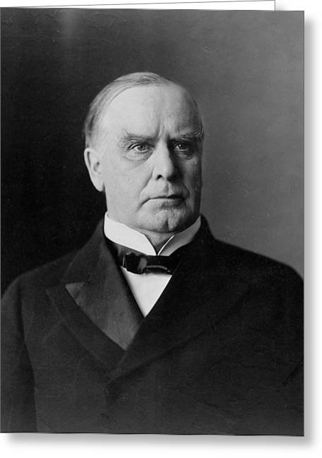 President William Mckinley Greeting Card by International  Images
