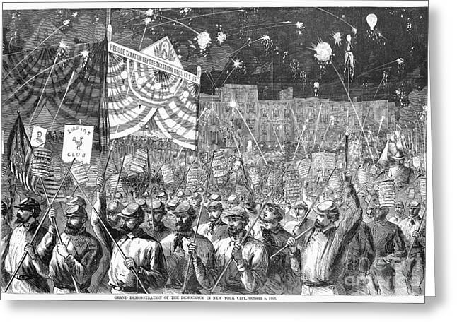 Presidential Campaign, 1868 Greeting Card