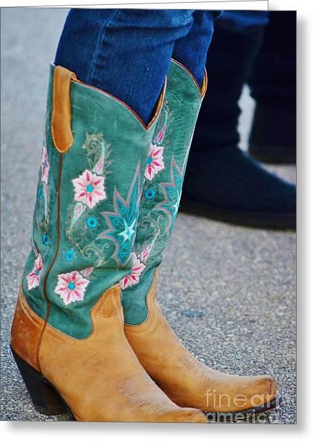Pretty Boots Greeting Card by Lynda Dawson-Youngclaus