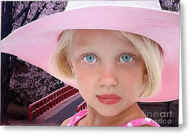 Pretty In Pink Greeting Card by Jerry L Barrett